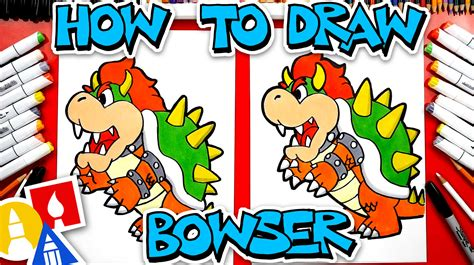 How To Draw Bowser - Art For Kids Hub
