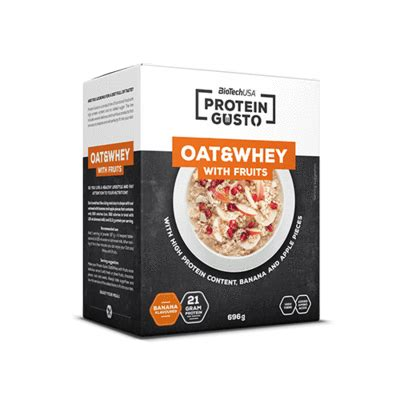 Protein Gusto - Oat & Whey with fruits - Tozoshop