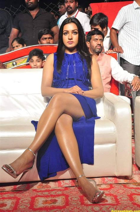 Catherine Tresa Thigh Show Images In Blue Dress - Actress