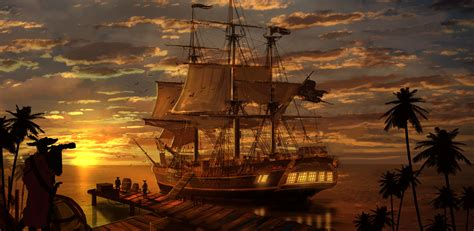 11 Pirate Ship HD Wallpapers | Backgrounds - Wallpaper Abyss