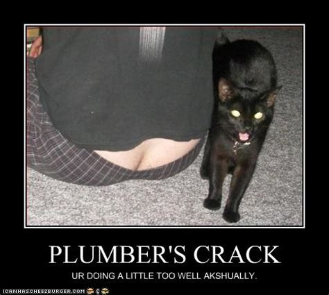 PLUMBER'S CRACK - Cheezburger - Funny Memes | Funny Pictures