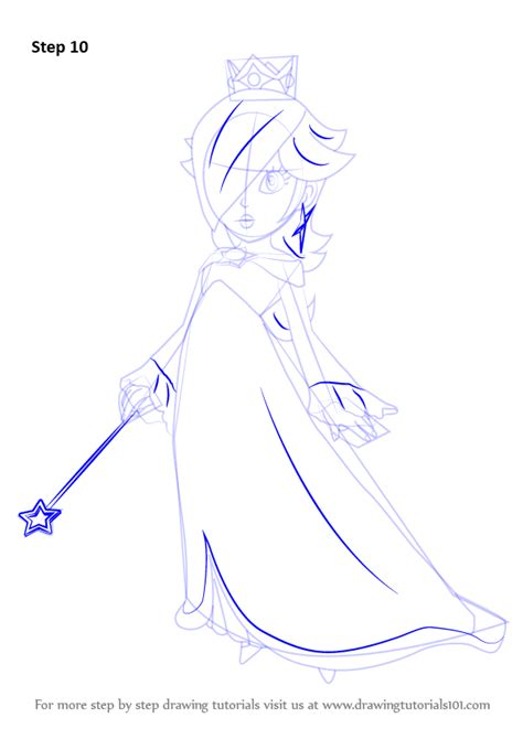 Step by Step How to Draw Rosalina from Super Mario