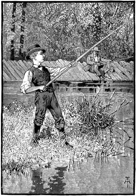 Boy Fishing with Cane Pole | ClipArt ETC